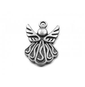 Angyal alakú medál (ezüst színű)