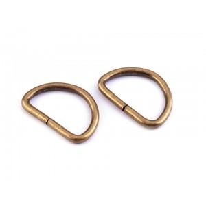 D gyűrű (25 mm) ósárgaréz