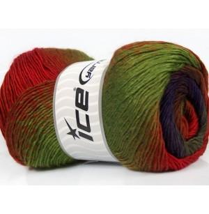 Primadonna zöld-piros-lila-barna