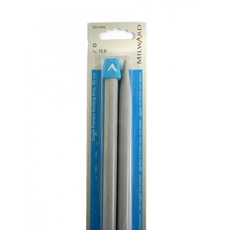 Milward egyenes kötőtű 12 mm-es