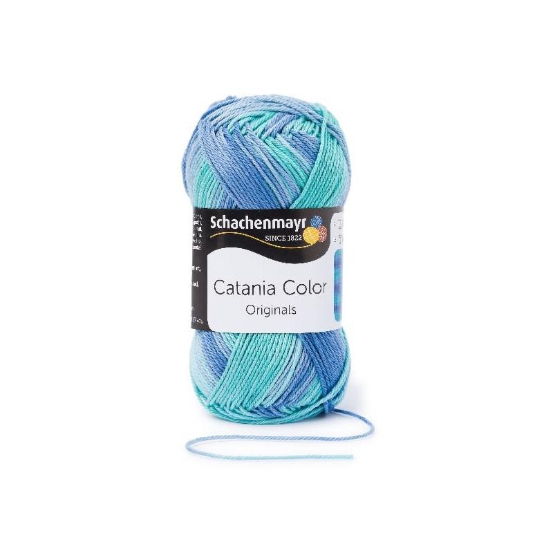 Catania Color aqua 226 pamut fonal