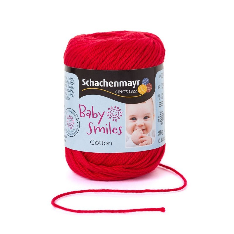Baby Smiles Cotton piros nyári fonal