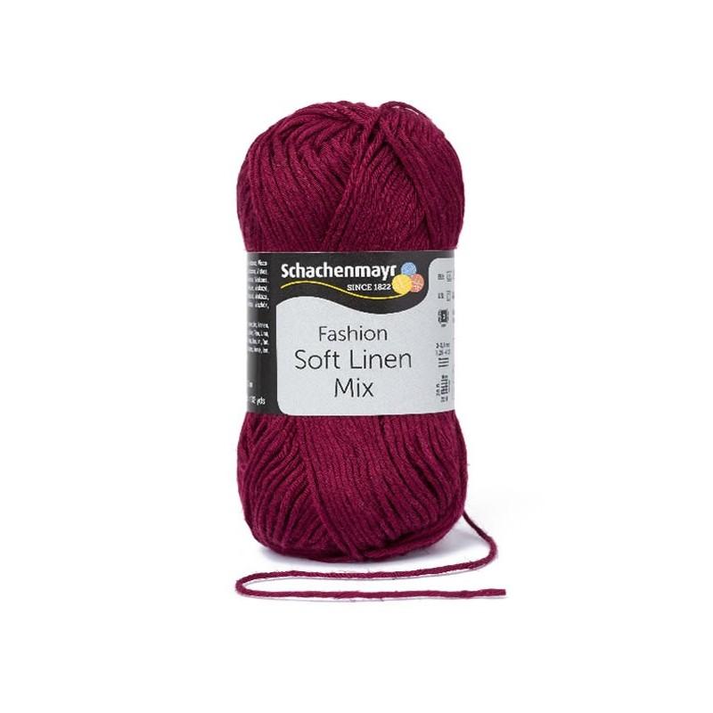 Soft Linen Mix burgundi