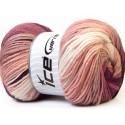 Magic Light lila-camel-fehér batikolt fonal