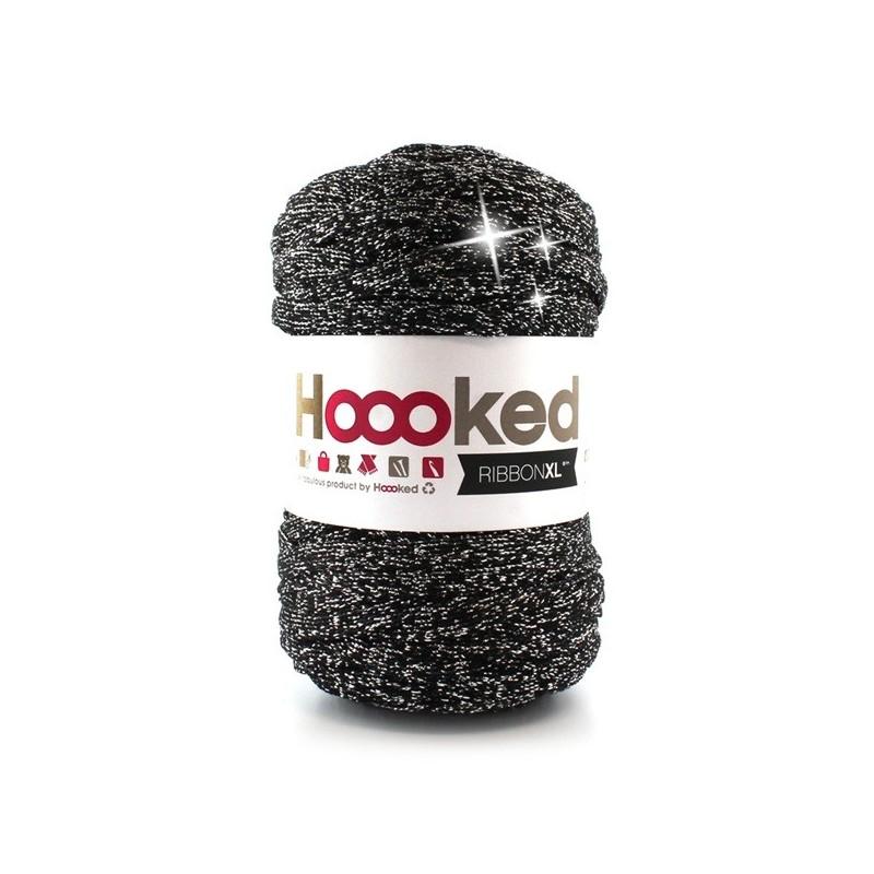 Ribbon XL Lurex Black Sparkle szalagfonal