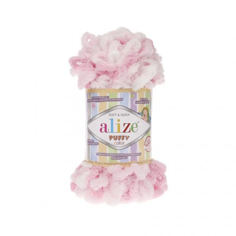 Puffy Color fehér-rózsaszín