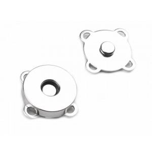 Mágneses kapocs ezüst (24 mm)