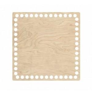 Horgolható fa alap négyzet 20x20 cm