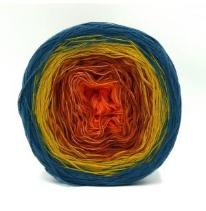 Rosella mandarin-réz-sárga-farmerkék 04
