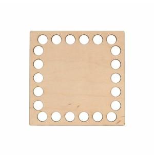 Horgolható fa alap négyzet 10x10 cm