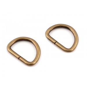 D gyűrű (20 mm) ósárgaréz