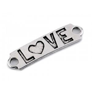 """""""Love"""" feliratú fém dísz"""