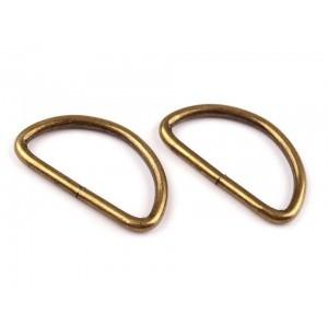 D gyűrű (32 mm) ósárgaréz