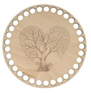 Horgolható fa alap kör Ø15 cm - fák