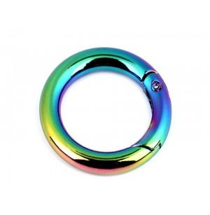 Nyitható fém karika multicolor  (25mm)