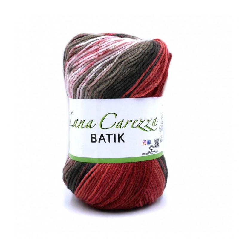 Carezza Batik 902 burgundi-rózsaszín-barna-bézs fonal