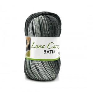 Carezza Batik 904 fehér-szürke-fekete fonal