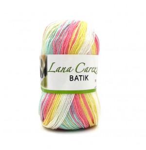 Carezza Batik 323 fehér-sárga-rózsaszín-kék-zöld