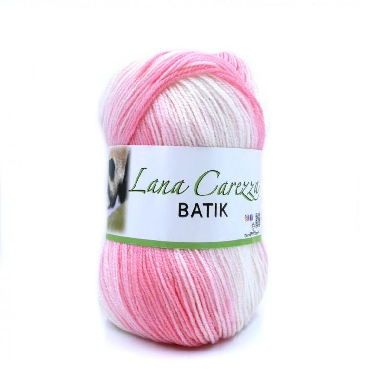 Carezza Batik 321 fehér-rózsaszín