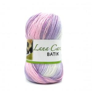 Carezza Batik 332 fehér-rózsaszín-lila