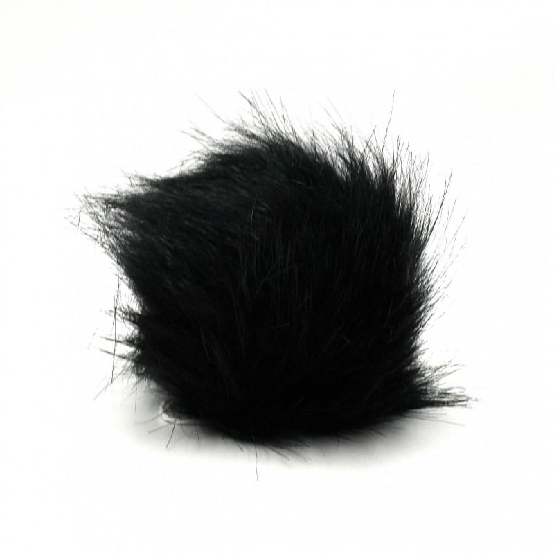 Fekete pompon ø12 cm